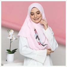 COLOURFUL FLORA WITH CORAK HANA SHAWL INSTANT 2LOOP DEEP PINK