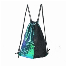 Women Cosmetic Bags Fashion Glittering Dance Bag Double Color Reversible Sequi