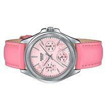 Casio Ladies Multi Hands Pink Leather Dress Watch LTP-2088L-4A2VDF