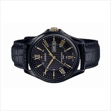 Casio Men Analog Day Date Leather Watch MTP-1384BL-1AVDF