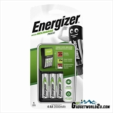 Energizer Recharge Maxi AA x4 NiMh 2000mAh Battery Charger