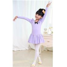 Purple Ballet Dress Long Sleeve