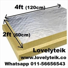 Rockwool coated Aluminium Foil Heat Reflect Insulation Stone Wool