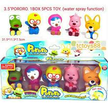 PORORO 5pcs set figure toys cw water spray function. OFFER.!!!