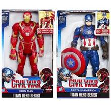 NEW IRONMAN & CAPTAIN AMERICA TITAN HEROES SERIES HASBRO. OFFER.!!!