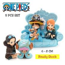 One Piece Figures Q Version 20th Anniversary One Piece Toys 5pcs set