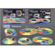 OFFER.!! Magic Tracks Glow Racetrack Toy Lighting Track Glow In Dark.!