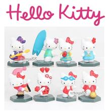MINI HELLO KITTY FIGURE CUTE LOVELY HELLO KITTY TOY CAKE TOPPER 8 PCS