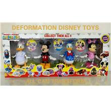 Disney Mickey Clubhouse Mickey & Friends. 12cm Deformation Toys. OFFER