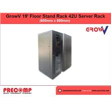 GrowV 19' Floor Stand Rack 42U Server Rack (P/G) (P/G4280FS)