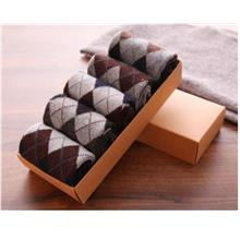 Rabbit Lamb Wool Men Socks Anti-Odour Anti-Bacteria 5 Pairs Wrap Gifts