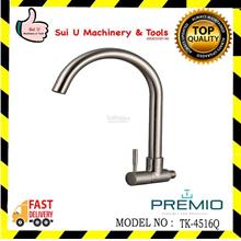 PREMIO TK-4516Q Matt Finished Brass Wall Sink Tap (Grande) Quatour Ser