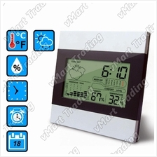 XS2301 Weather Station Hygrometer Thermometer Alarm Clock Calendar