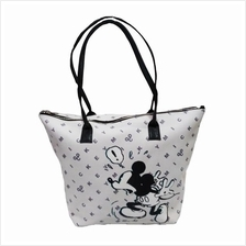 DISNEY MICKEY MOUSE 90TH YEAR PU TOTE BAG (WHITE)