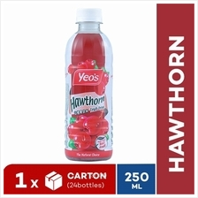 YEO'S 250ml Hawthorn PET Bottle Drink (24 Bottles)(Exp Date: Nov 2019))