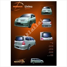 Nissan Livina Sportivo Style Full Set Skirting + Spoiler Body Kits
