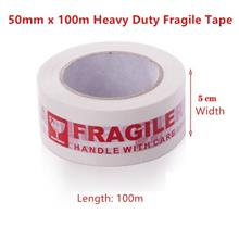 【READY STOCK MY】100 M x 5 CM Big FRAGILE Red Packing Tape