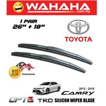 "Toyota Camry 2012-2018 U Shape OPT7 TRD Silicon Wiper 26""+18"""