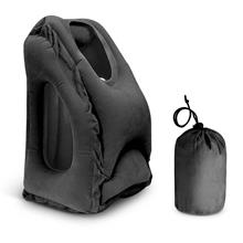 Inflatable Lightweight PortableTravel Pillow (black)