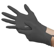 [CLEAR STOCK] Disposable Powder Free Latex Glove Black Size L 100