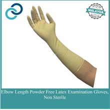 Elbow Length Powder Free Gynecological Procedure Latex Gloves Non Ster