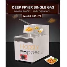 Commercial fully stainless steel deep fryer 6L single gas