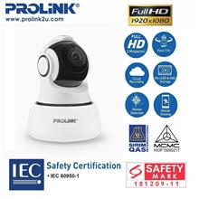 PROLiNK 1080P Full-HD Wireless IPCAM Pan-Tilt Night Vision PIC3001WP