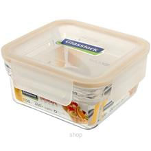 [SALE] Glasslock Food Container 1130ml Square Ring Taper Oven Save Smart - ORS