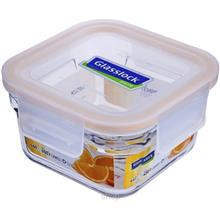 [SALE] Glasslock Food Container 440ml Square Ring Taper Oven Save Smart - ORST