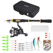 Fishing Rod and Reel Combo Carbon Fiber Telescopic Fishing Rod