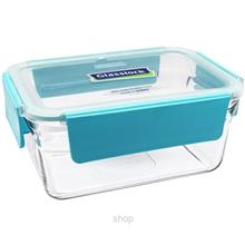 [SALE] Glasslock Food Container 1780ml Rectangle Ring Taper Oven Save Pure Sma)