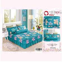 Cadar Patchwork 4in1 Bedding Set with Frills BYFZ-8198