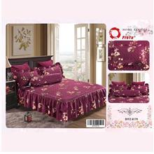 Cadar Patchwork 4in1 Bedding Set with Frills BYFZ-8179