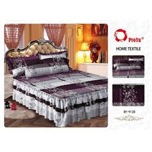 Cadar Patchwork 4in1 Bedding Set with Frills BY-9128
