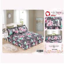 Cadar Patchwork 4in1 Bedding Set with Frills BYFZ-8200