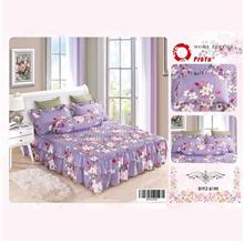 Cadar Patchwork 4in1 Bedding Set with Frills BYFZ-8199