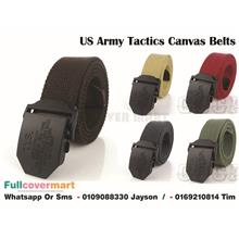 Ready Stock Tough Belt Military Belt Canvas Belt With Buckle For Men