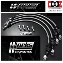 WORKS ENGINEERING STEEL BRAKE HOSE KIT PROTON SATRIA NEO/GEN 2