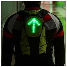 Lixada 5L Lightweight USB Rechargeable Reflective Backpack (green)