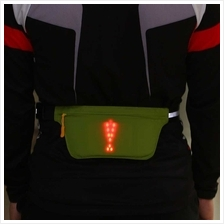 Lixada Lightweight USB Rechargeable Reflective Waist Belt (green)