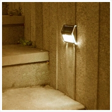 Solar-powered Light With 2LEDs Polycrystalline Solar Panel (warm white)
