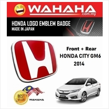 Honda City GM6 2014 Front and Back Red H EMBLEM Badge Logo (1 Pair)