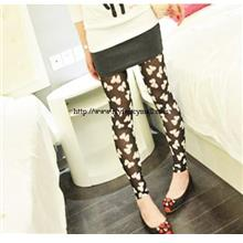 00514 Korea Pants Panties Trouser Shorts Bowknot Mesh Leggings