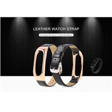 Watch Bands - 14mm Leather Strap For Xiaomi Mi Band 2 - Watch Accessor..