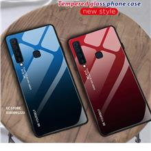 Samsung Galaxy A30 A50 Gradient Tempered Glass Case Cover