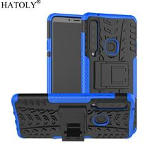 Samsung Galaxy A9 2018 Silicon Stand Tough Armor Case Cover