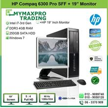 HP Compaq 6300 Pro SFF i7 3rd Gen 4GB 250GB HDD + 20' LED Monitor