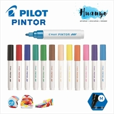 Pilot Pintor Paint Marker Pen Medium 1.4MM - Basic Colour [Metal, Plas