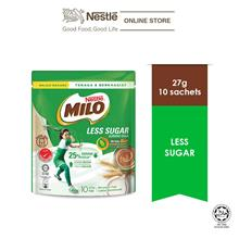 MILO ACTIV-GO Less Sugar 10 Sticks x 26g)