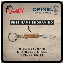 Keychain N °02 Stainless Steel Opinel Knife + Free Name Engraving